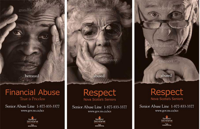 Nova Scotia Elder Abuse Awareness Poster, Laura Graham, Graphic Designer