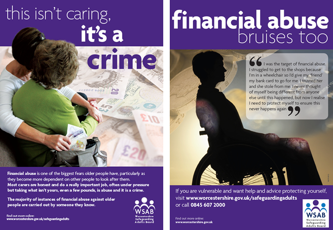 Financial Abuse Awareness Posters